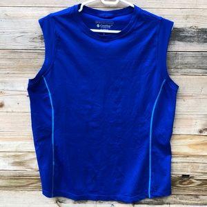 Coolibar   Mens Blue Workout Top Size XL